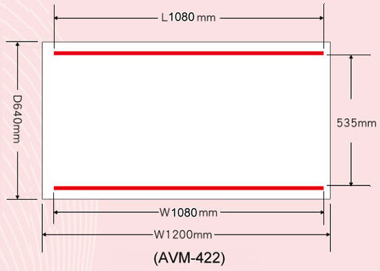 AVM-422 Sealing Beams Position